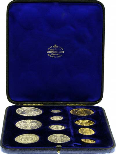 1887 Gold & Silver Set in Box