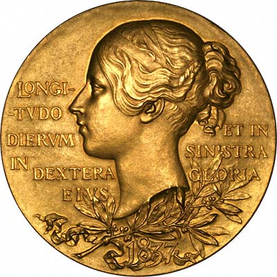 Reverse of 1897 Queen Victoria Diamond Jubilee Gold Medal