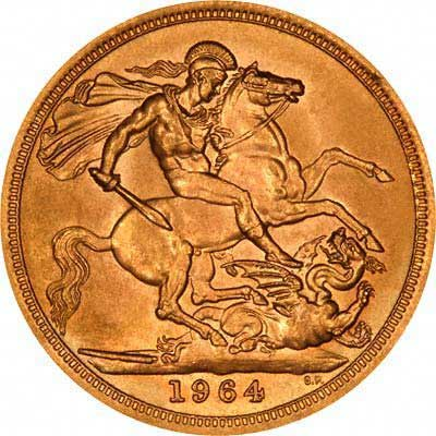 Reverse of 1964 Sovereign
