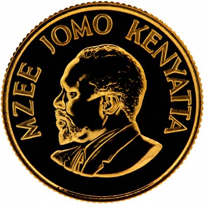Obverse of 1966 Kenyan Gold 100 Shillings