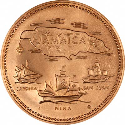 1972 Jamaican 20 Anniversary Of Independance Gold Coin