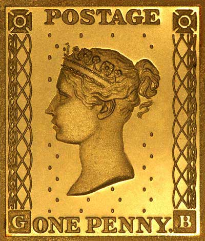 Stamps Value Penny Black
