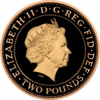 Modern Bimetallic Gold Two Pounds