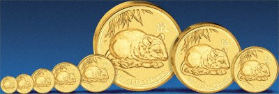 2008 Australian Gold Mouse Coins