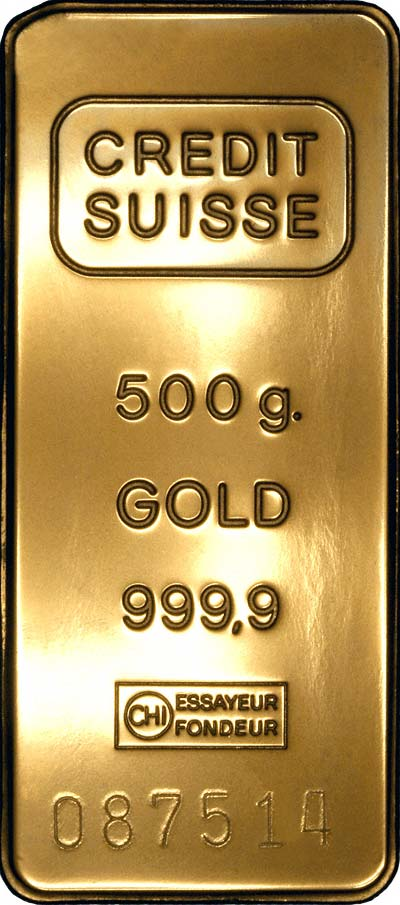 Credit Suisse Gold Bars Chards Tax Free Gold